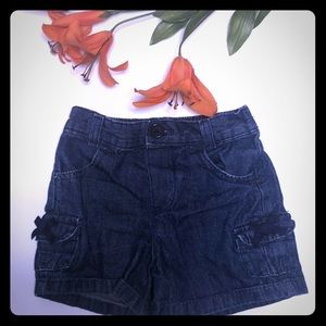 Faded glory size 5T jkids jean shorts w/bows